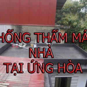 Chống Thấm Mái Nhà Tại ứng Hòa