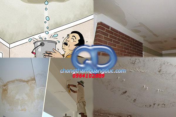 xử lý chống thấm trần nhà